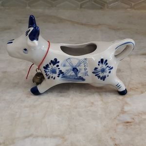 Vintage Delft Blue Holland Porcelain Cow Creamer